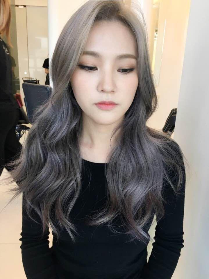 Korea Korean Kpop Idol Actress 2017 Hair Color Trend For Winter Fall Lavender Ash Brown Hairstyles For Girls K Ash Hair Color Kpop Hair Color Korean Hair Color