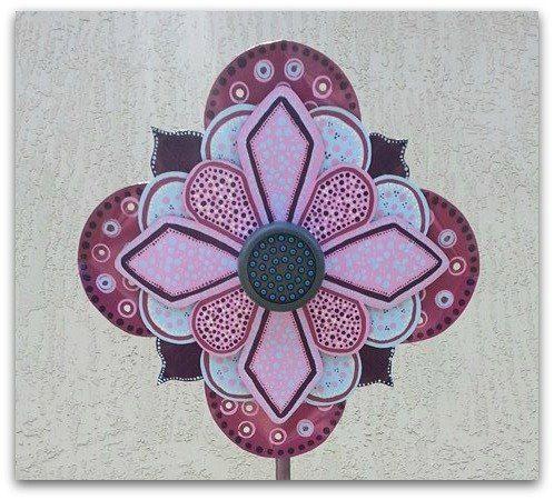 Portable Outdoor Shower - Garden Shower - Metal Flower - Pretty Shower - Flower Shower- Flowers #handmade #flowerstake