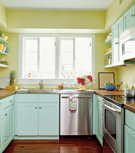 Benjamin Moore hibiscus and robin's egg blue | Kitchen ...