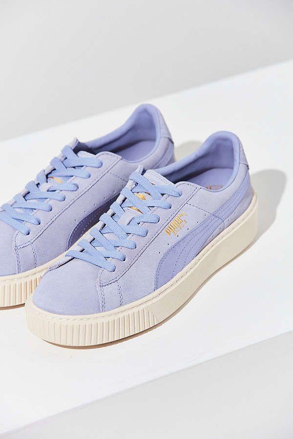 aa8679f464596e Puma Suede Summer Satin Platform Sneaker