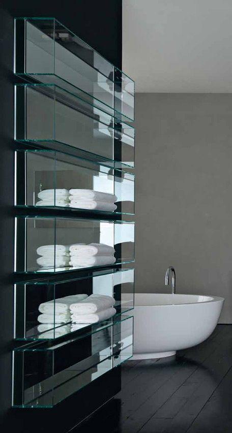 Baldas De Cristal Transparente Baños Con Ducha Espejos