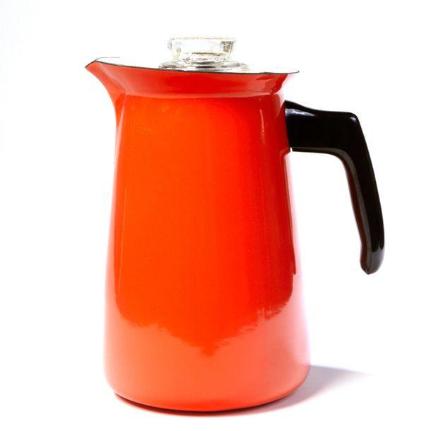 Mid-Century Enamel Coffee Pot