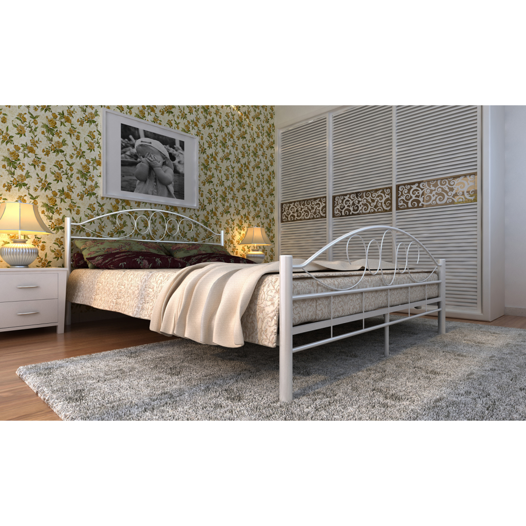 Boxspringbett 140x200 Holz White Metal Bed 180 X 200 Cm White Curved Lovdock