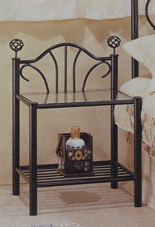 Amazon Com Black Metal And Glass Nightstand Furniture Decor Glass Nightstand Metal Nightstand Iron Bedside Table