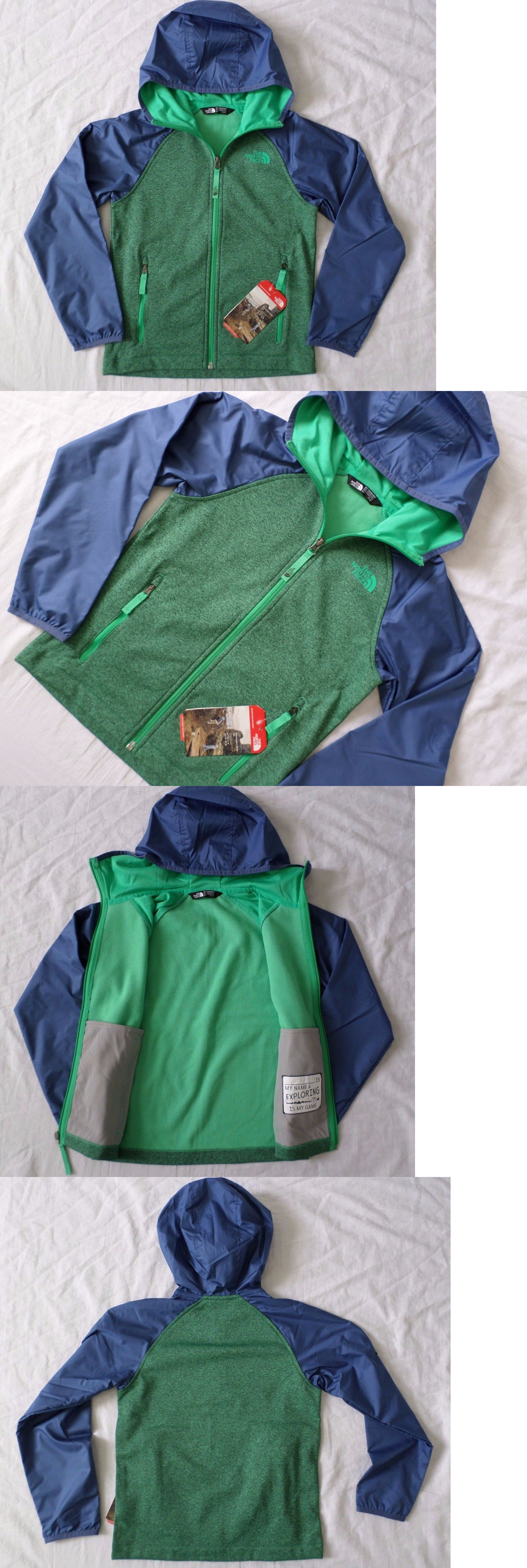 d833355a329f Outerwear 51933  New The North Face Kids Boys Canyonlands Fleece Lined  Track Hoodie Xs S M L