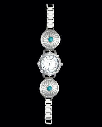 Montana Silversmiths® Ladies' Turquoise Stone Concho Watch::Accessories::Ladies::New Arrivals::FEATURES::Fort Western Online