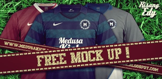 Download Medusakick Mock Up Jersey Nike Desain