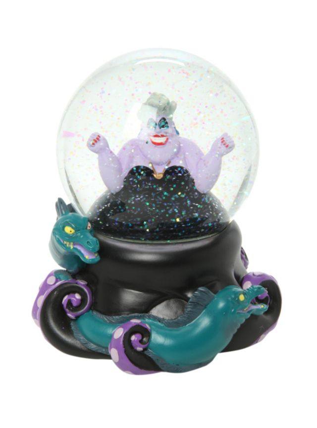 Water globe with an Ursula design including her pet eels Flotsam and Jetsam. I need this. I love Ursala!