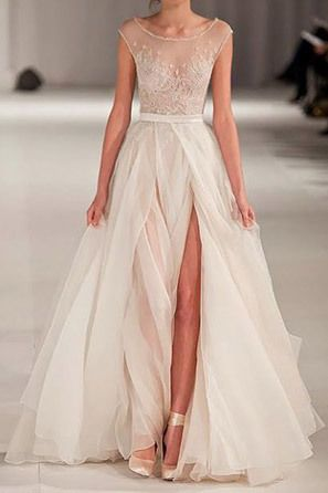 a29099abc66 Ballerina inspired wedding dress on the runway