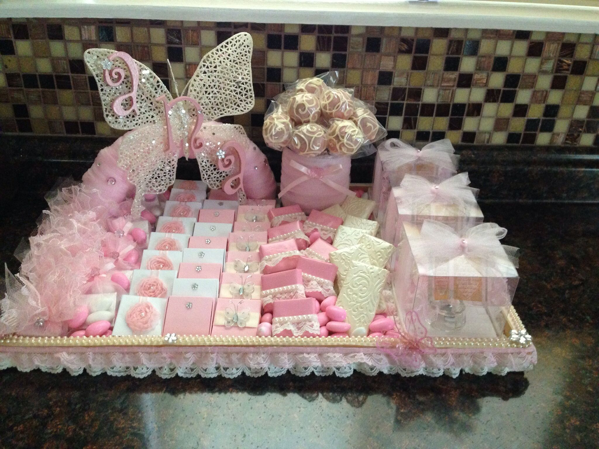 Baby Girl Pass Out Favor Tray Baby Favor Ideas For A Girl