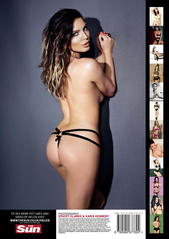 Helen Flanagan Smoking Hot Spicy Shoot Posing Topless In Thong For  Calendar