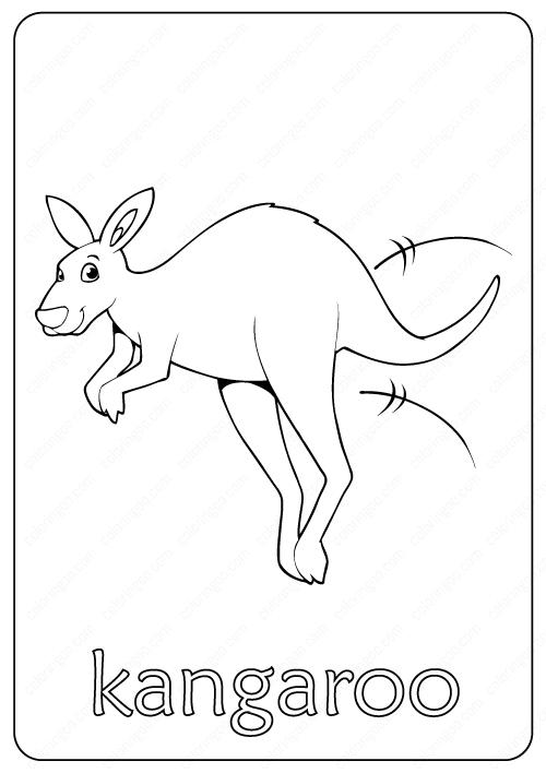 Printable Kangaroo Coloring Page Book Pdf Coloring Pages Coloring Books Free Coloring Pages