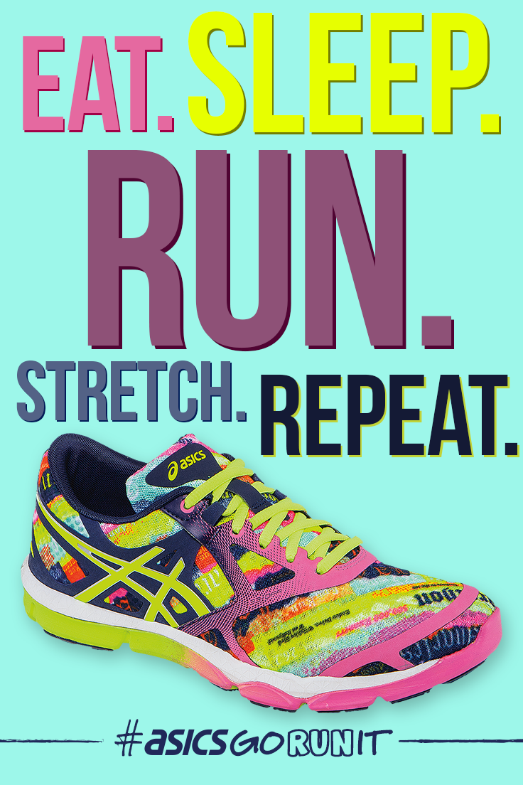 Eat. Sleep. Run. Stretch. Repeat. #TrainingTips #Quote #Fitspiration