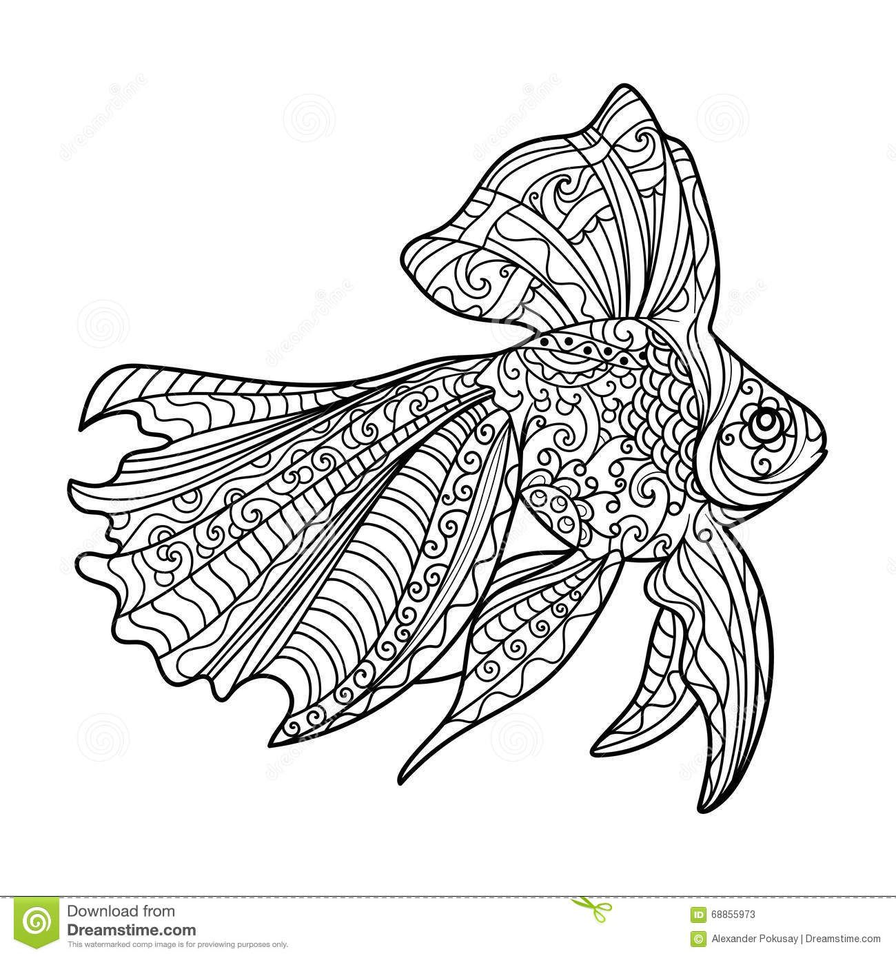https://thumbs.dreamstime.com/z/gold-fish-coloring-book ...