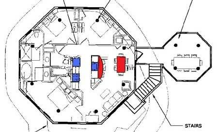 Octagon tree house plans | House plan