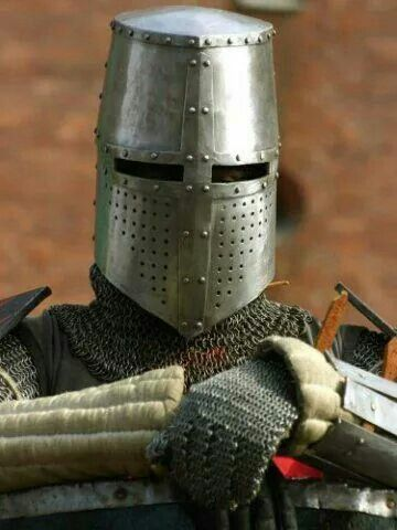 Nice replica 13th-century Great Helm | Armed and Armored in