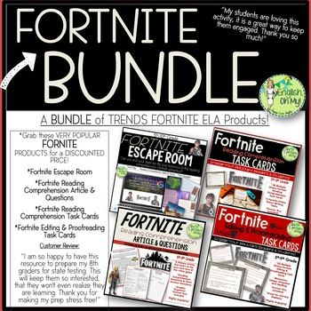 Fortnite Bundle Argument Article Task Cards Escape Room