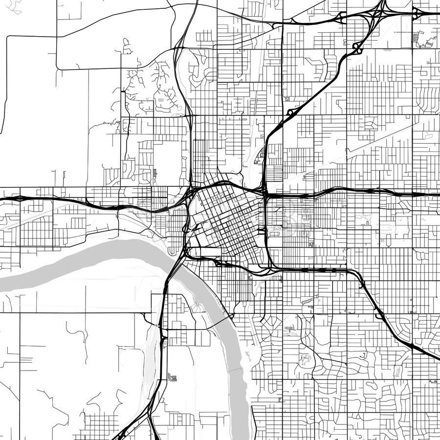 Map of Tulsa, Oklahoma   Tattoos    Tulsa map, Oklahoma, Map