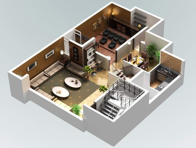 Beautiful Basement Floor Plans With Unique Design