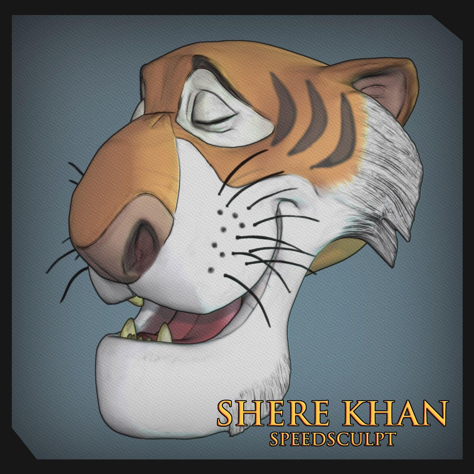 Shere Khan Mudbox Speed Sculpt Sergio Gabriel