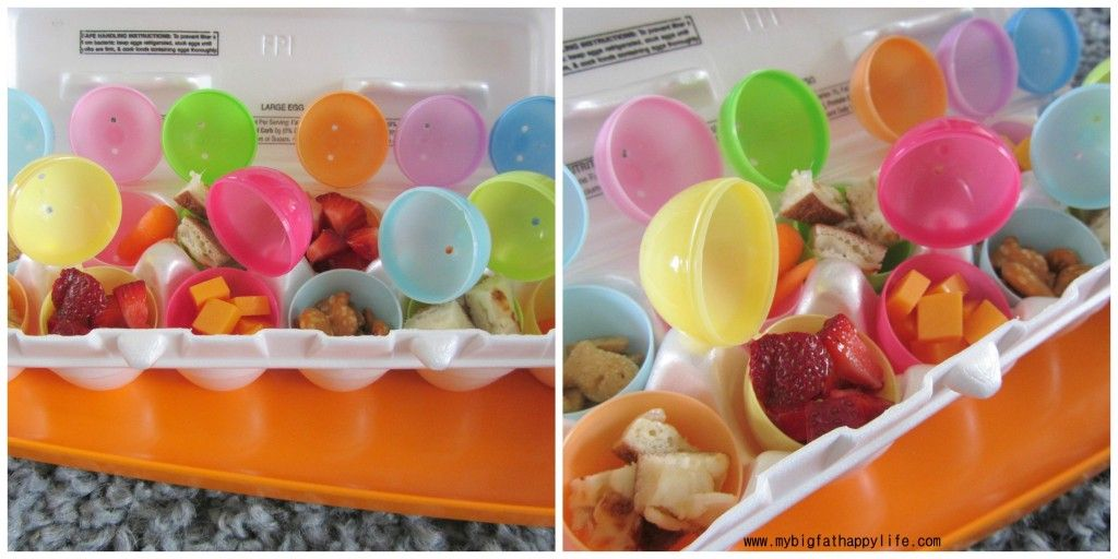 Lunch in Easter Eggs & Preschool/Early Learning: Letter E | mybigfathappylife.com