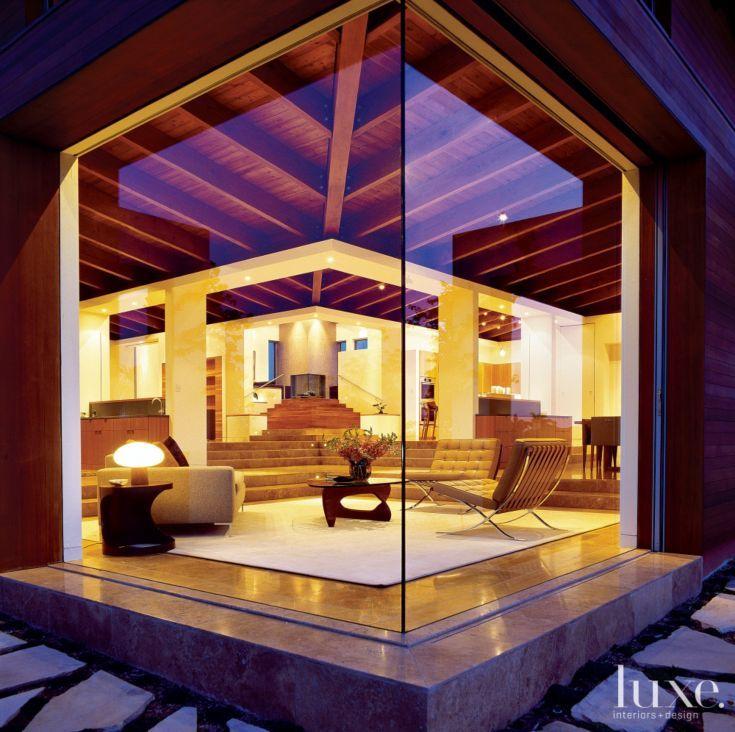 Modern Glass Corner Window | Luxe | Living Rooms | Pinterest