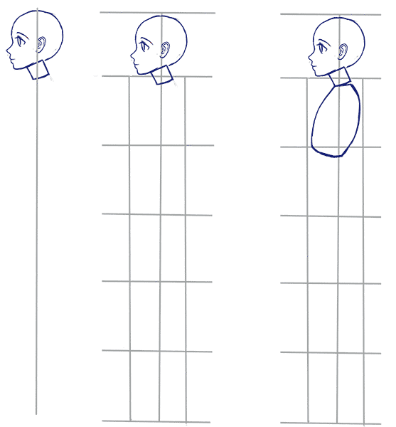how to draw anime side view and profile gif 557 600 drawing