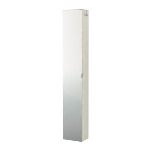 LILLÅNGEN High cabinet with mirror door, white Spiegeltür - badezimmer spiegelschrank ikea