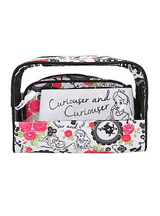 6ea985d63aa6 Disney Alice in Wonderland 3-Piece Makeup Bag Set