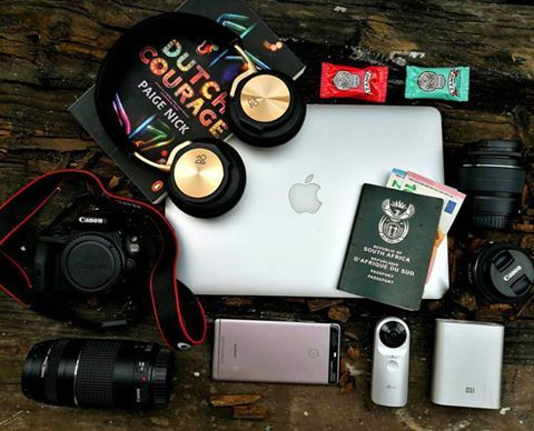 """Brendon Petersen #TravelEssentials  @beoplay H6 wired headphones  MacBook Air 13""""  @lgsouthafrica 360 Cam  @huaweiza P9  Canon 100D (with tons of lenses)  Xiaomi 10400mAh Mi Powerbank  @amillionmilesfromnormal's fantastic book to keep me entertained  @zangchocolate to keep me going (because caffeine + chocolate = WINNING!) #IFA2016 #ZangJourney #tech #travel #wanderlust #exploretocreate #oo #leicalens #DutchCourage"""