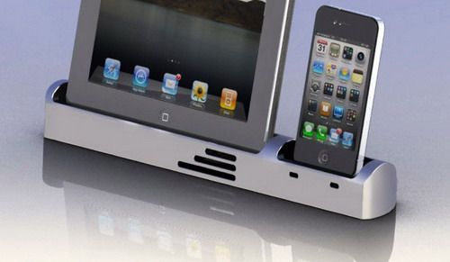 Dock station for iPhone and iPad