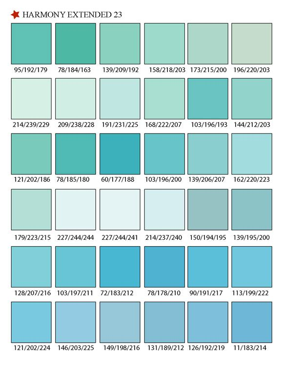 Printable RGB Color Palette Swatches - Color matching ...