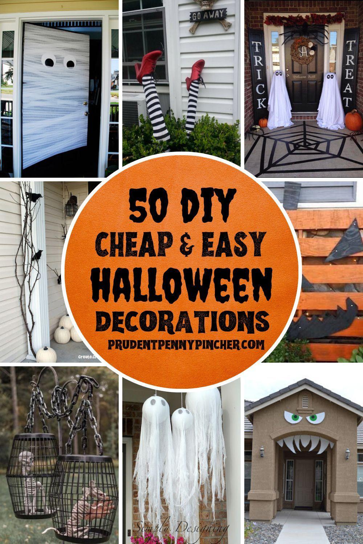 50 Cheap and Easy Outdoor Halloween Decor DIY Ideas in