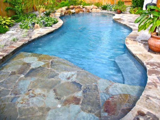 natural stone coping & deck tile - slate bullnose coping & deck