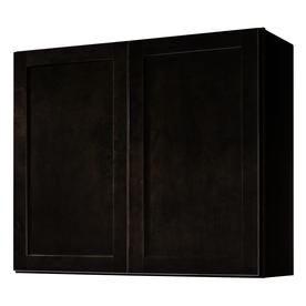 Kitchen Classics Brookton 36-in W x 30-in H x 12-in D Finished Espresso Birch Double Door Kitchen Wall Cabinet