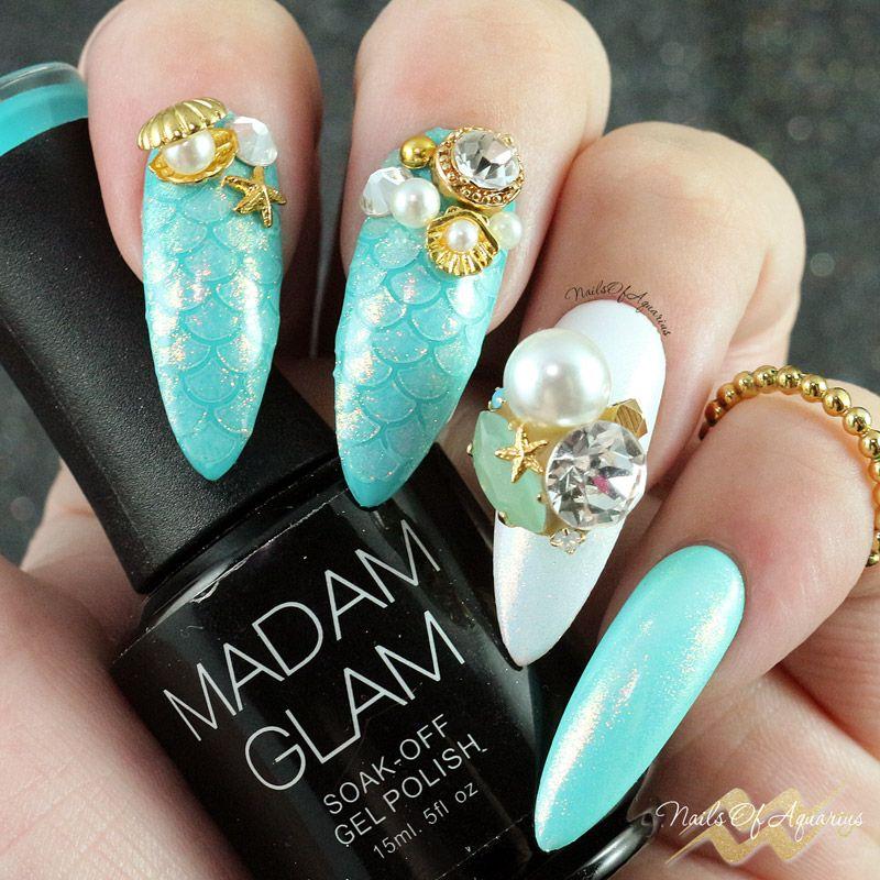 Magic Mermaid Nails with Fairy Dust Glitter Powder   Mermaid nails ...