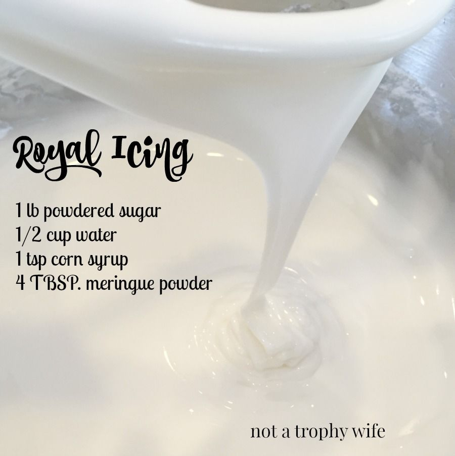 My favorite go- to 4 ingredient royal icing recipe! #easyroyalicingrecipe