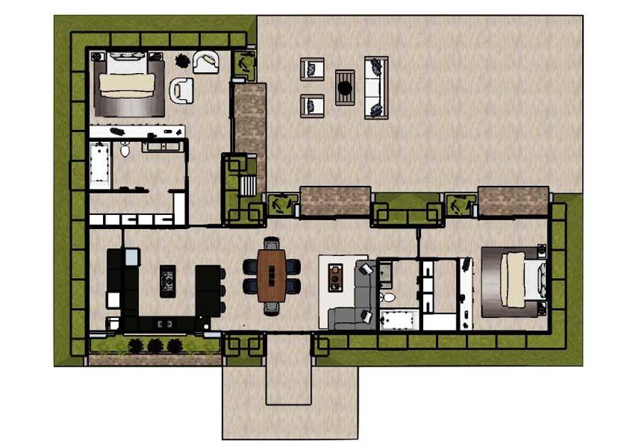 Terranova 2br Floorplan Color In 2020 Green Magic Homes Green Magic Passive Solar Design