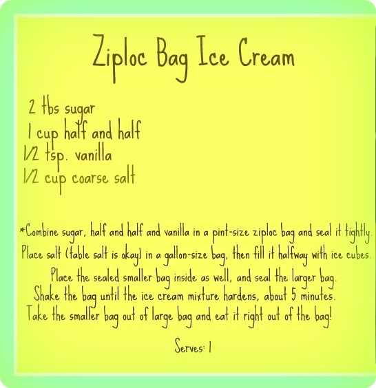 Ziplock Bag Icecream It Really Works And Is Alot Of Fun