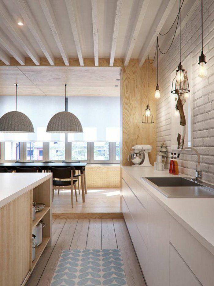 D couvrir la beaut de la petite cuisine ouverte petite cuisine ouverte meuble scandinave et - Plan petite cuisine ouverte ...