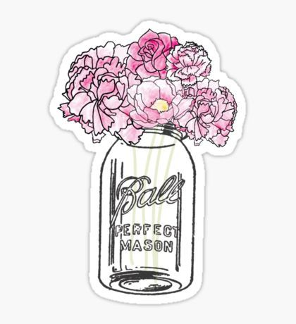 Mason Jar Sticker Baby StickersCute StickersPrintable