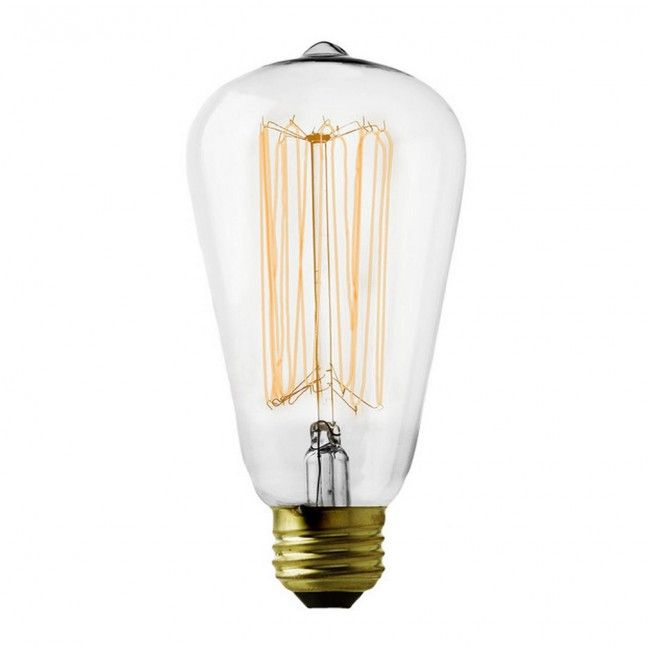60W Squirrel Cage Vintage Style Bulb With Es Cap Iconic Lights £8 Glamorous Kitchen Light Bulbs Inspiration