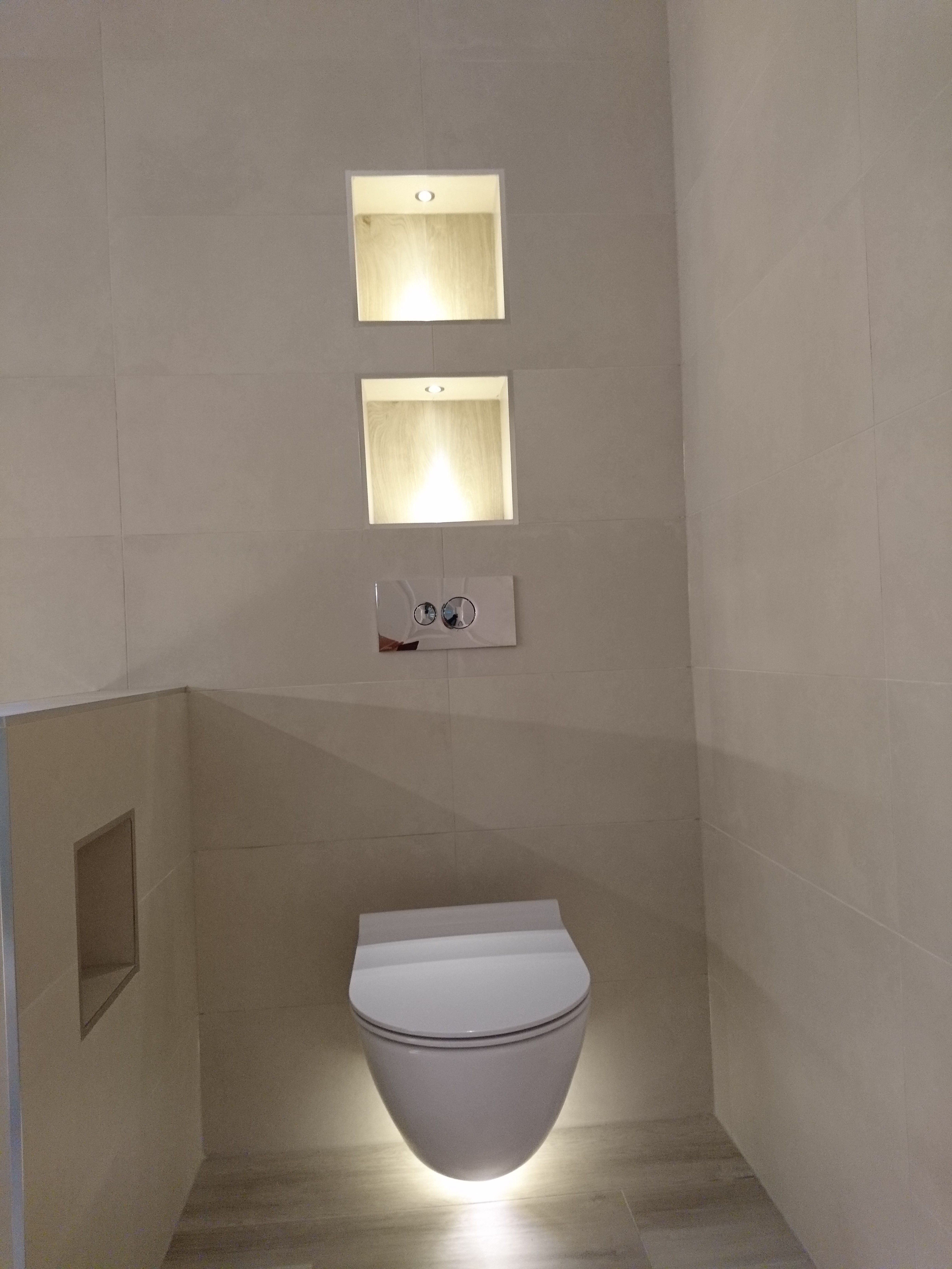 Lighting In Recesses And Under Toilet