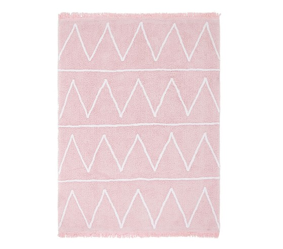 Lorena Canals Hippy Washable Rug Soft Pink 4 X 5 3