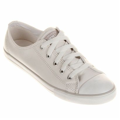 Compre Tênis Converse All Star CT AS Dainty Leather OX Branco na Zattini a  nova loja de moda online da Netshoes. Encontre Sapatos e6256b43bbd45
