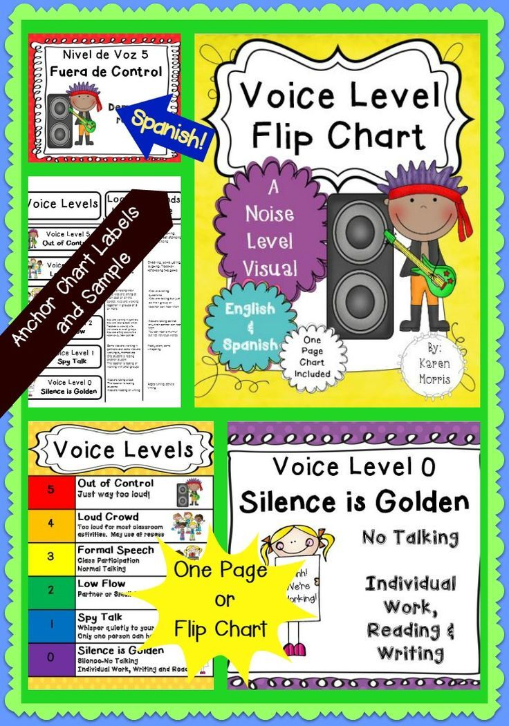 This Voice Level Flip Chart And One Page Will Help You Your Students Manage Their During Diffe Clroom Activities