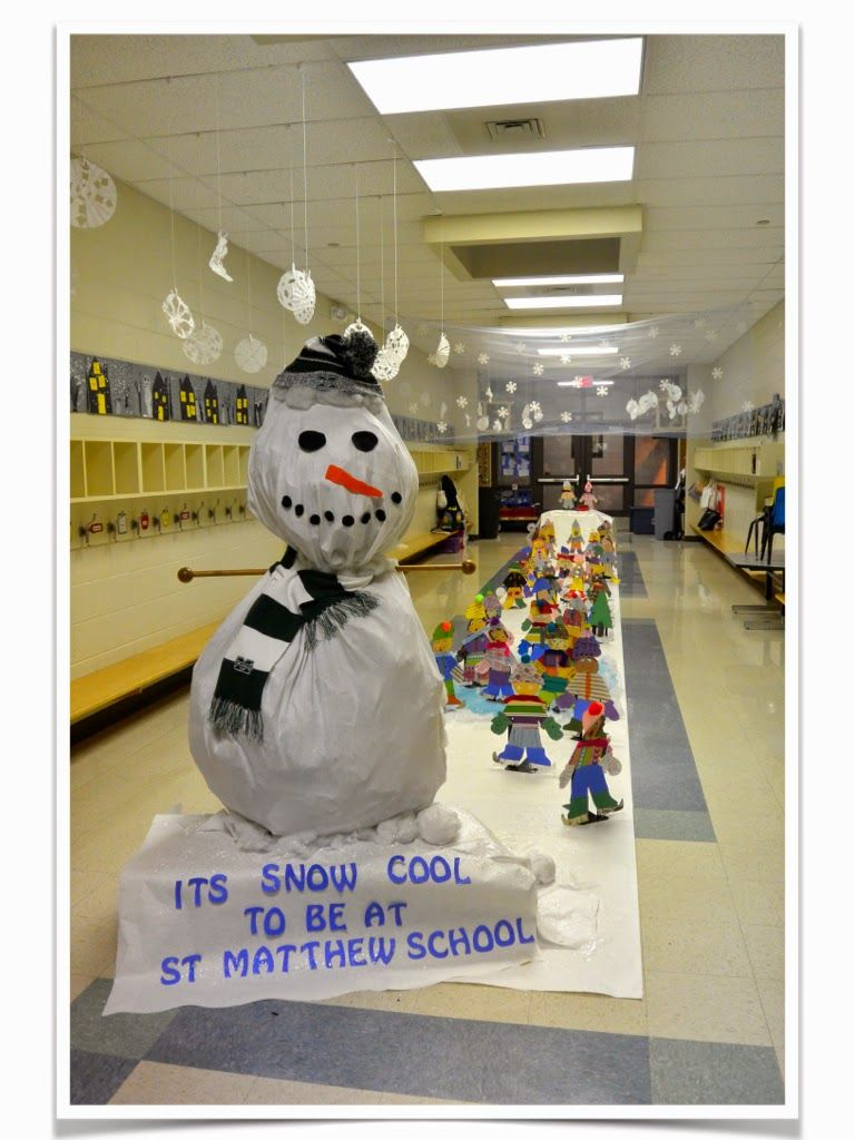 Love Those Kinders Turning Our Hallway Into A Winter