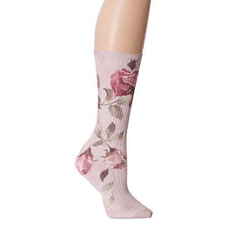 i wanna pair of floral socks