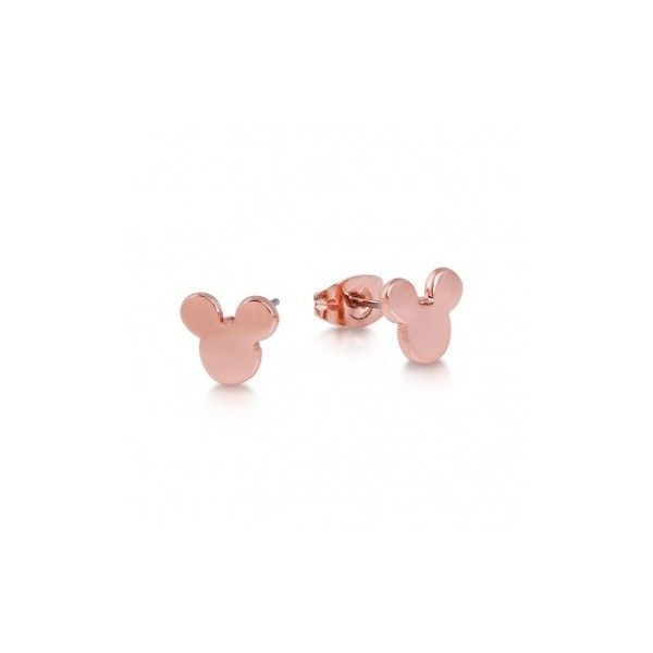 Rose Gold-Plated Mickey Mouse Head Stud Earrings ($21) ❤ liked on Polyvore featuring jewelry, earrings, butterfly jewelry, mickey mouse jewelry, rose gold plated jewelry, mickey mouse stud earrings and butterfly stud earrings