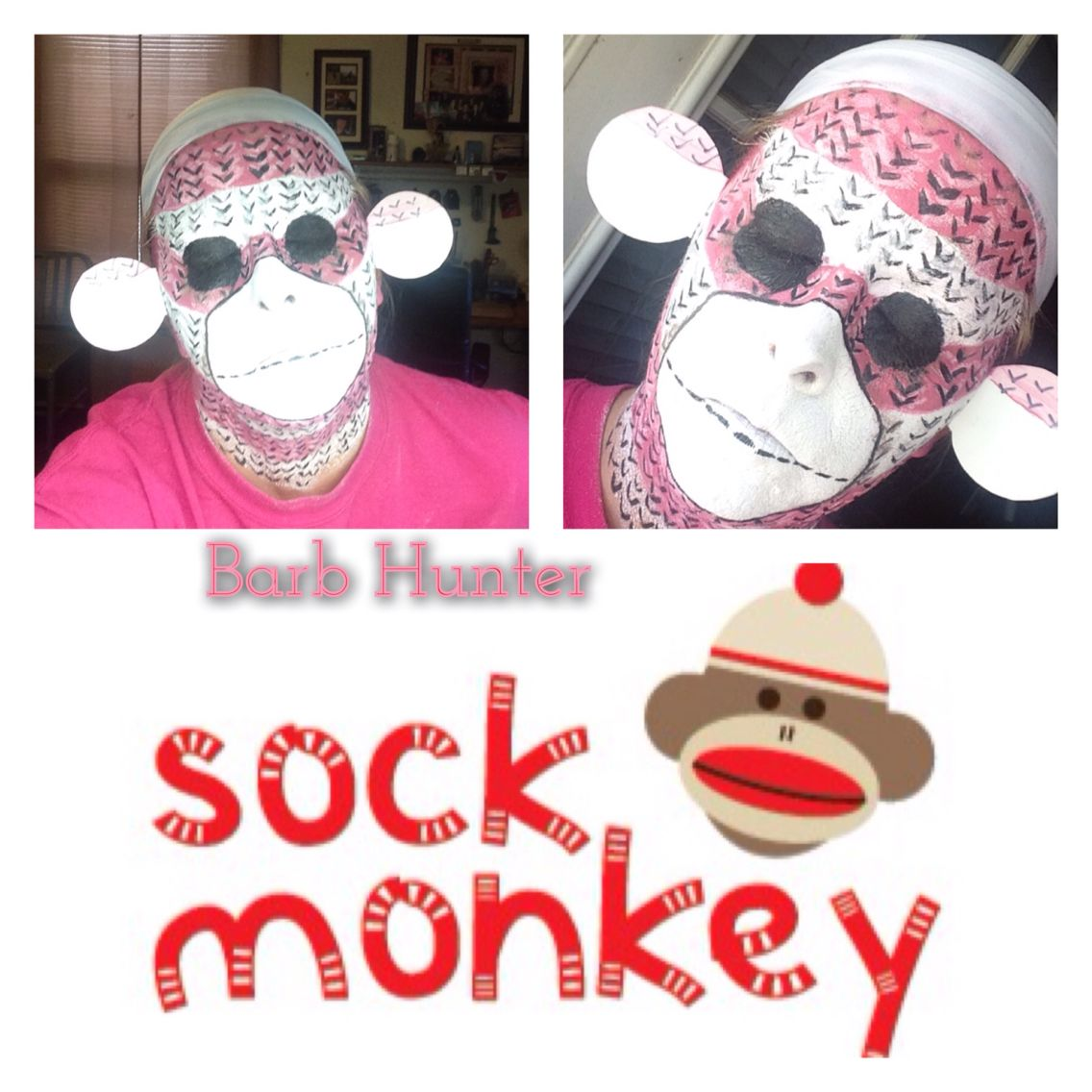 sock monkey halloween makeupbarb hunter inspiredlexi